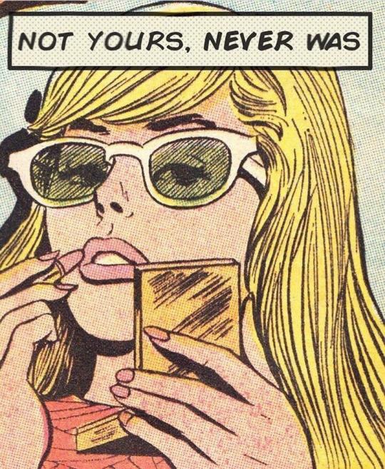 Mujer estilo comic, nunca fui tuya