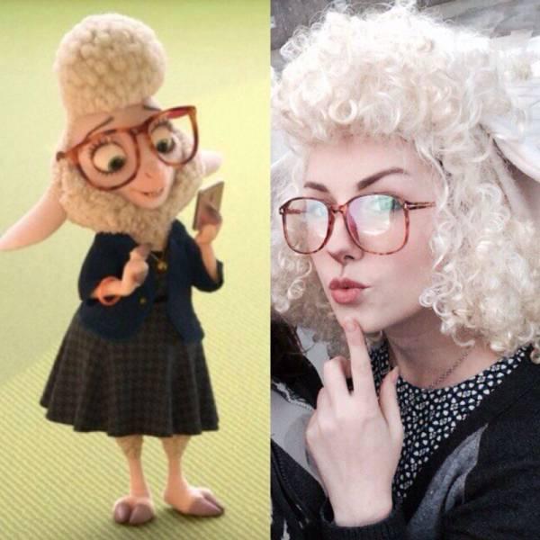 Parecido razonable chica hipster y la oveja de zootrópolis