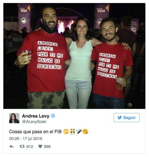 Andrea Levy del PP en el festival FIB