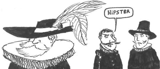 Dibujo gracioso hipster en época isabelina