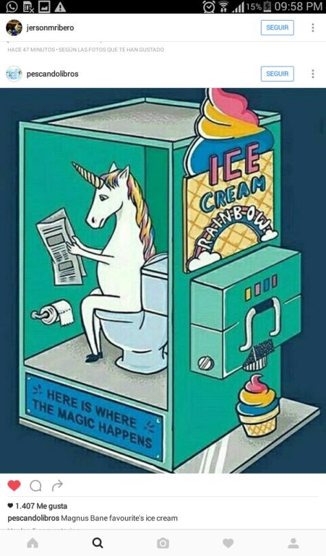 Máquina de helados de arcoíris, unicornio haciendo caca.