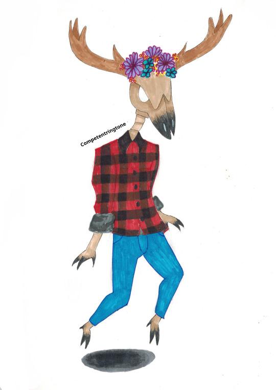 Ilustración Wendigo hipster