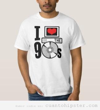 Camiseta hipster I love 90's