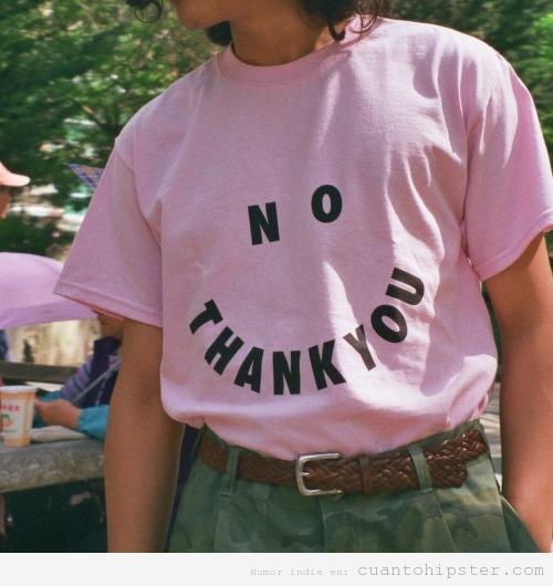 lookhipster, camiseta No thank you