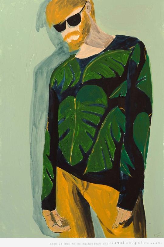 Pintura de chico hipster por Vattiri Viddot