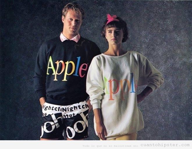Línea de moda marca Apple en 1986