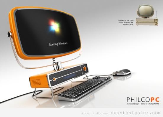 Philco ordenador estetica retro años 50