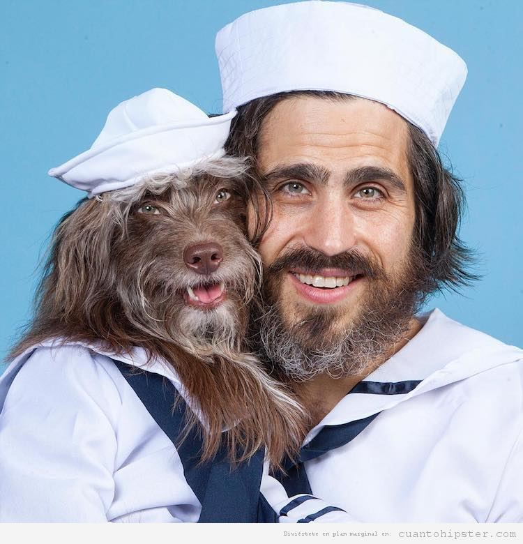 Foto hipster parecido a su perro 6