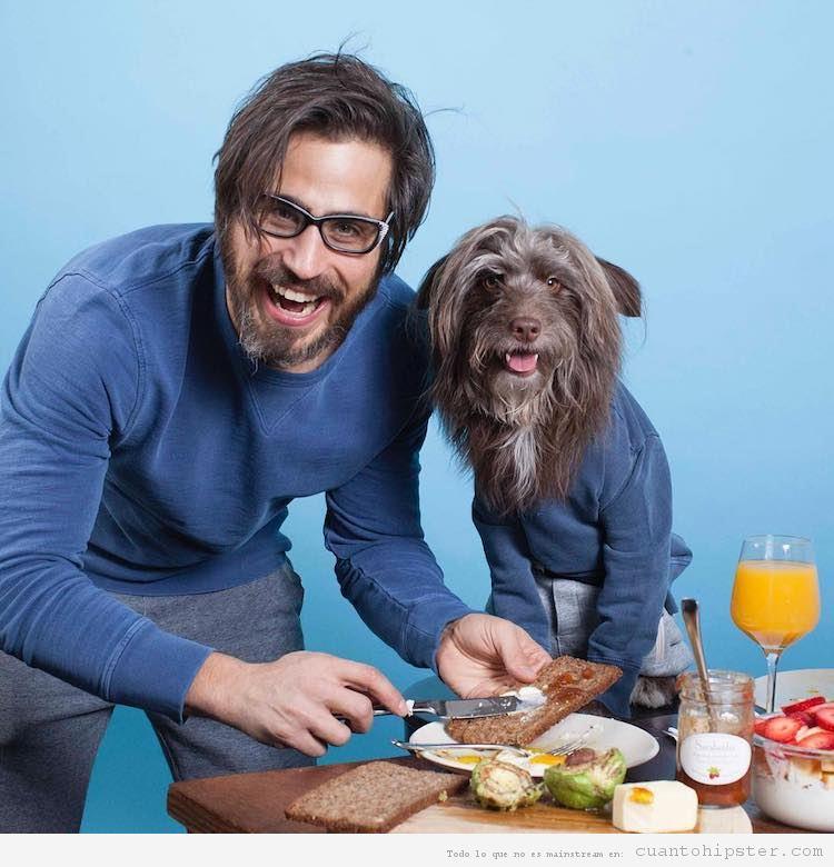 Foto hipster parecido a su perro 1