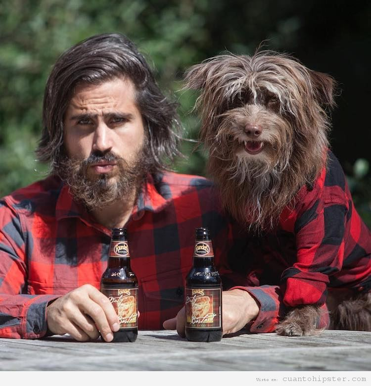 Foto hipster parecido a su perro 2