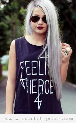 Pelo rubia ceniza mujer hipster 7