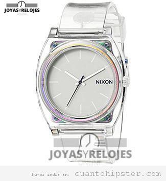 Reloj hipster transparente