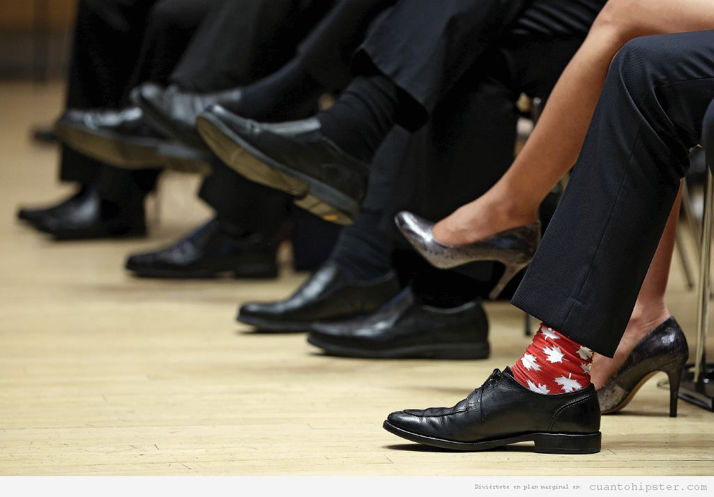 Calcetines Trudeau hoja arce