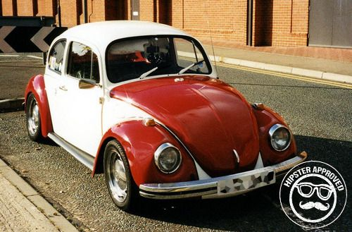Coche hipster Beetle clásico
