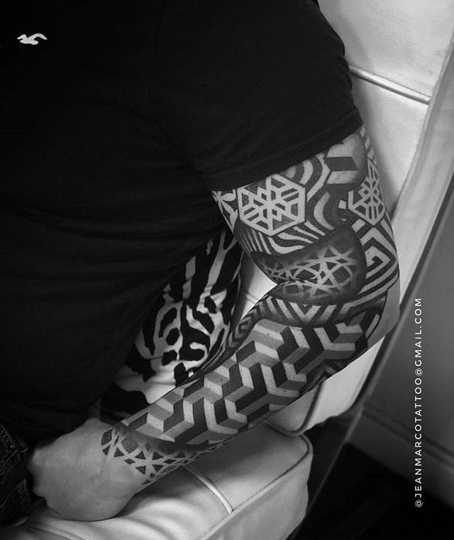 Tatuajes hipsters abstractos geométricos