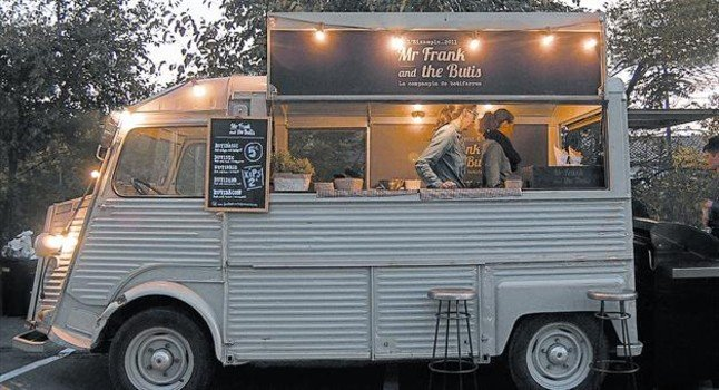 Food truck hipster